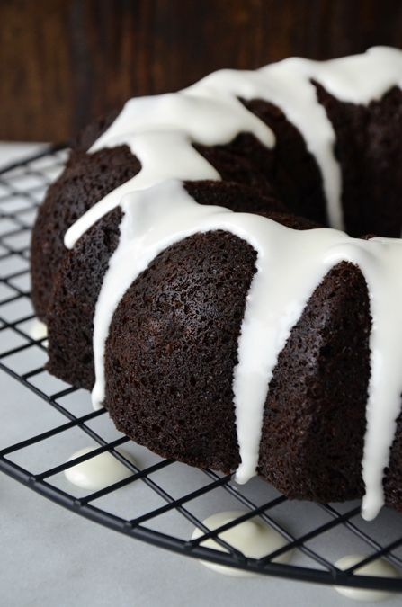 Chocolate Gingerbread Bundt Cake from justataste.com #recipe #gingerbread