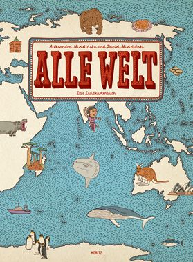 Kindersachbuch Mizielinski ALLE-WELT Das Landkartenbuch ©Moritz Verlag