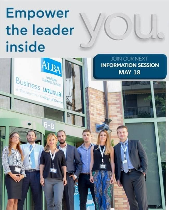 """""""Position Yourself for #Success"""" Join #ALBA Info Session on May 18"""