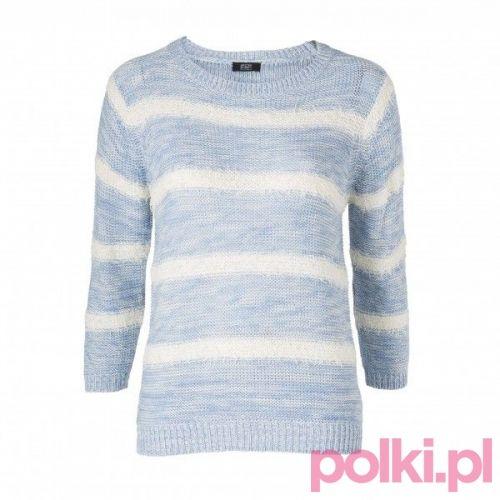 Niebieski sweter w paski, F&F #makeup #polkipl #bebeauty