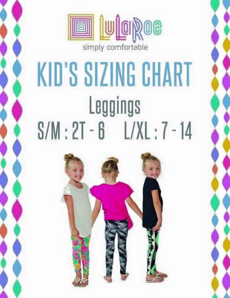 Kids leggings sizes