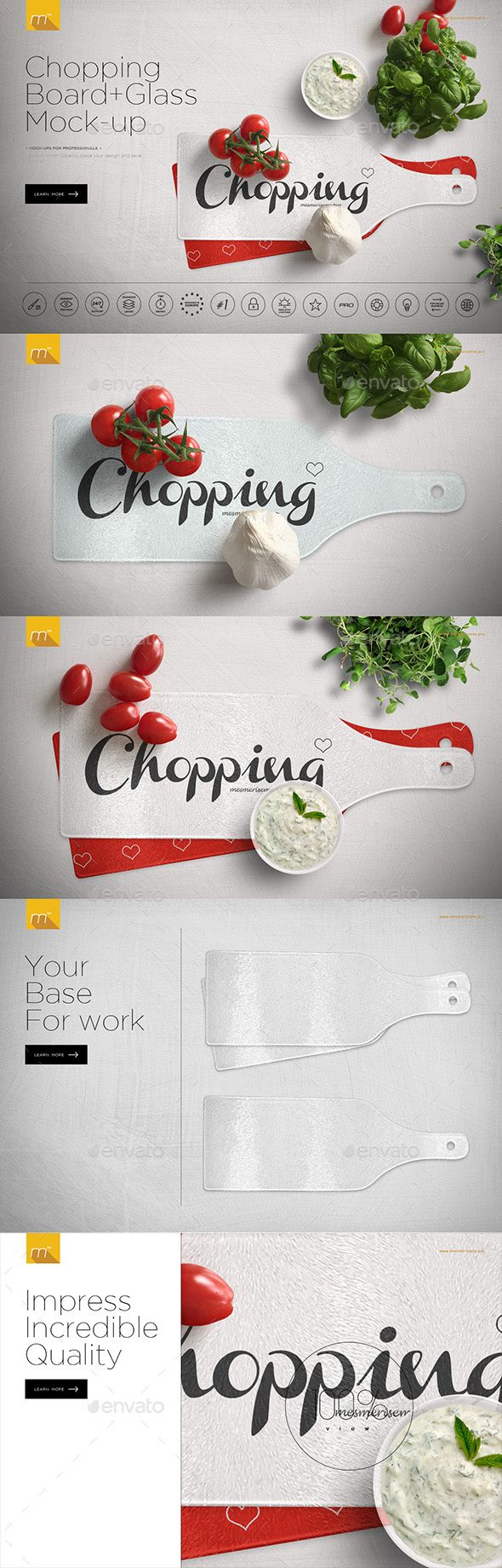 Glass Chopping Board Mock-up. Download here: https://graphicriver.net/item/glass-chopping-board-mockup/17493922?ref=ksioks