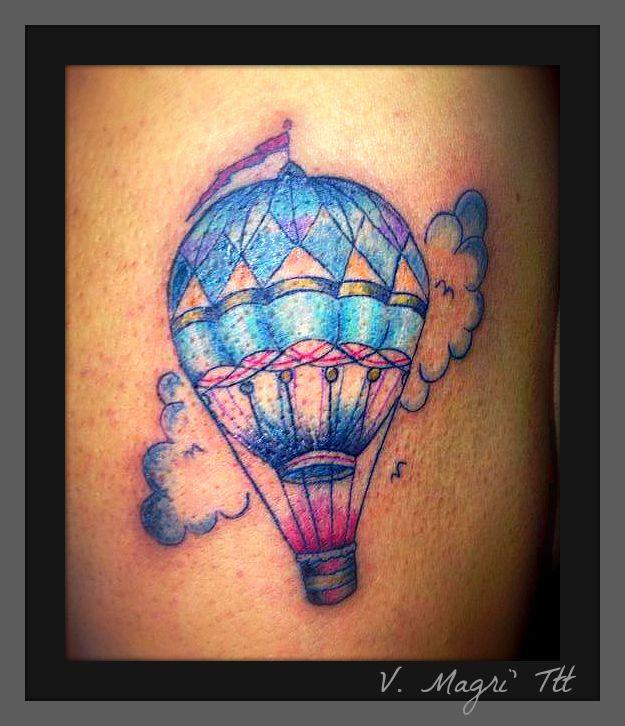 Tatto mongolfiera - air baloon tattoo