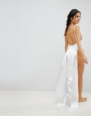 Prettylittlething Bridal Bow Back Swimsuit