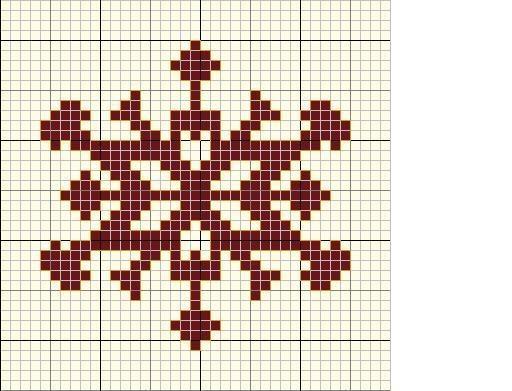 FREE: snowflake #Cross-stitch