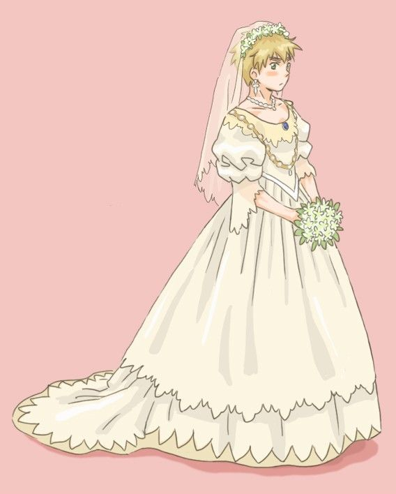 Hetalia weeding dresses - England❤ oh I see so America is in the suit