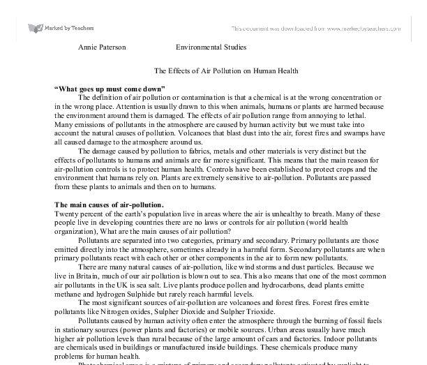 Examples essays b2 environment