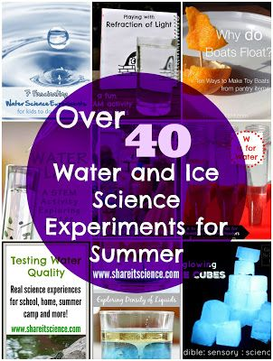 Share it! Science News : Over 40 Water and Ice Science Activities to Keep You Cool!