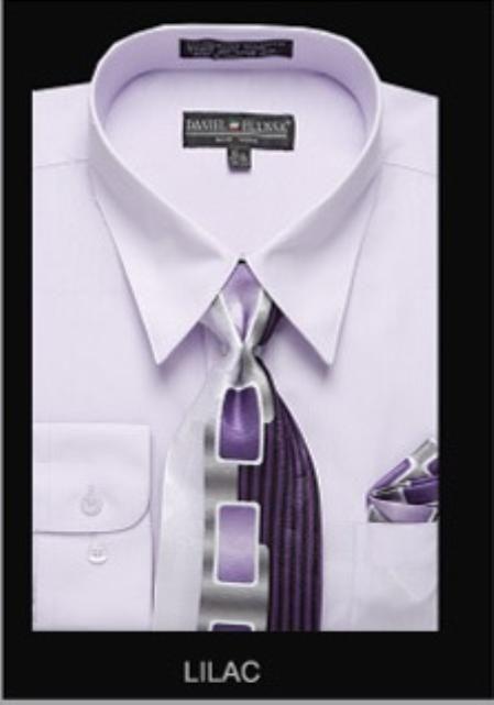Sku ll6796 men 39 s classic dress shirt lilac 39 mensitaly for Mens lilac dress shirt