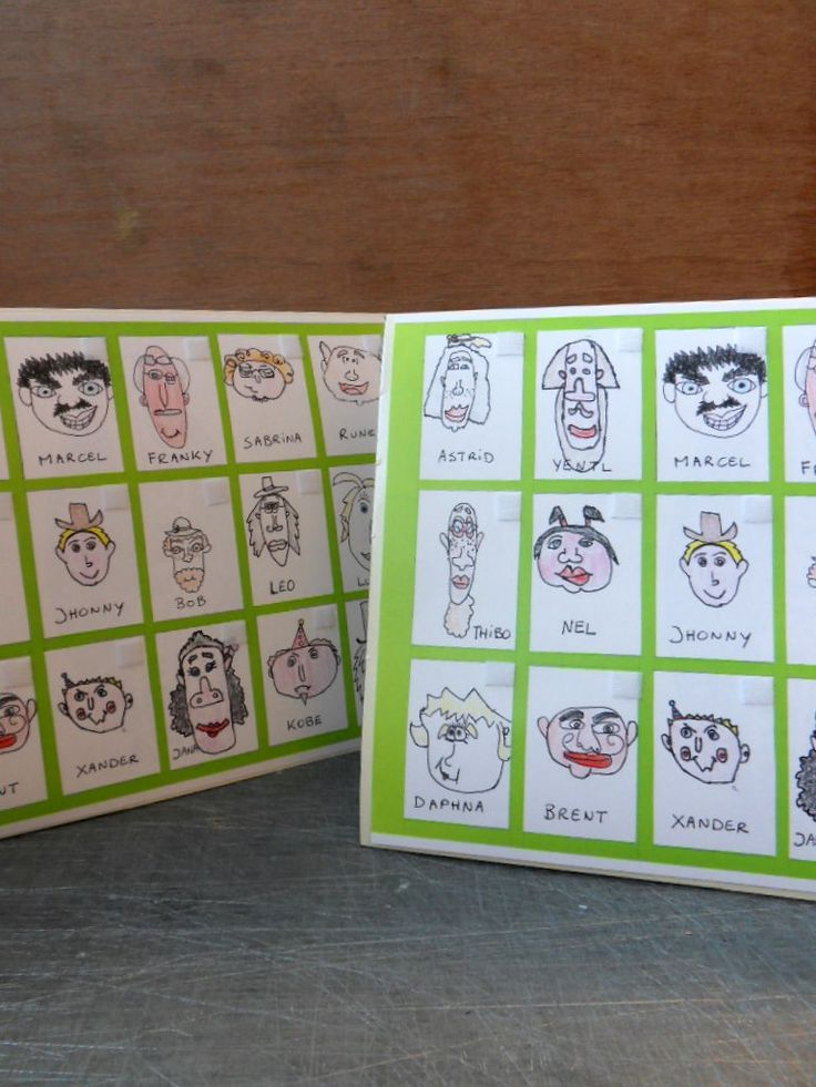 """Handmade """"Guess Who"""" Game  (This was done as a class project...fun!)"""