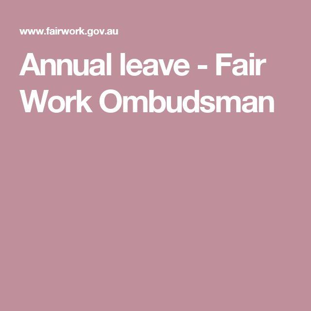 Annual leave - Fair Work Ombudsman