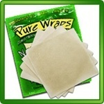 The Pure Wraps! PKU friendly, and made from coconut. Approximately 23mg Phe for 1 Original wrap, and 21mg Phe per Curry wrap. favorite-pku-products