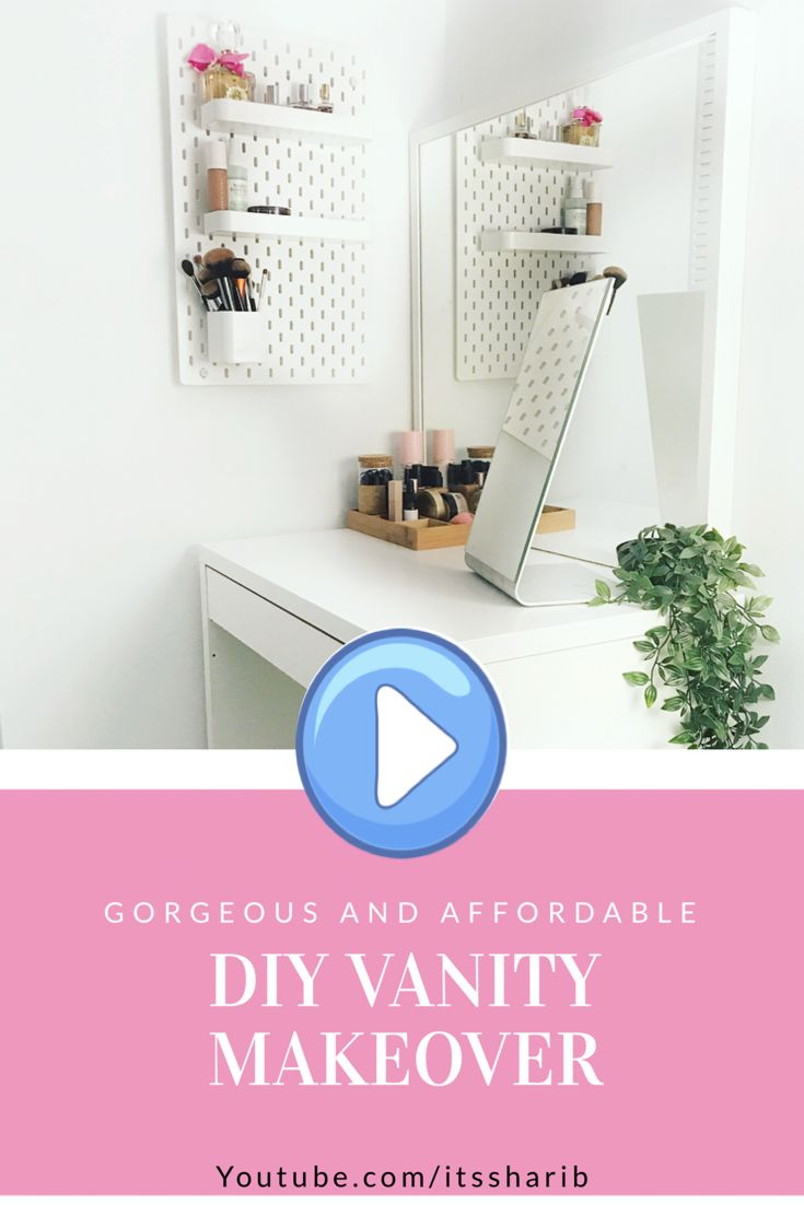 Beautiful Ikea Diy Makeup Vanity Makeover Video Makeup Desk