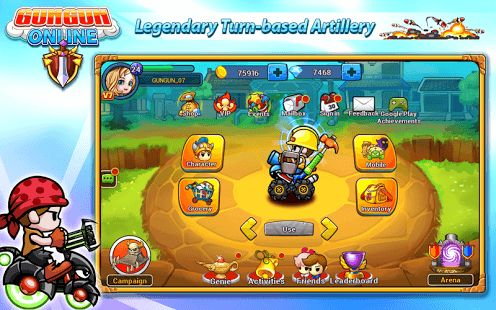 Gungun Online is a turn-base online mobile game for who love the turn-base artillery game.