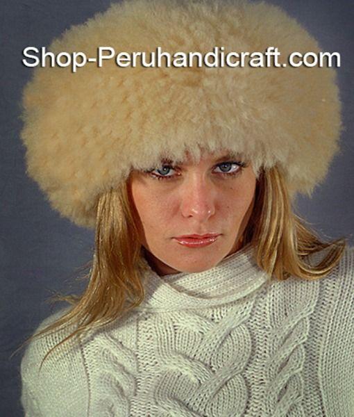 12a2c08f12a45 Russian fur hat made in Peru with alpaca fur