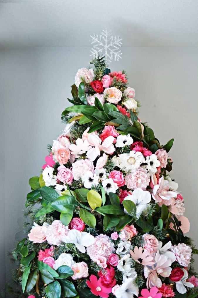 paper flower christmas tree 56 best quirky christmas trees images on pinterest christmas deco - Christmas Tree Flower Decorations
