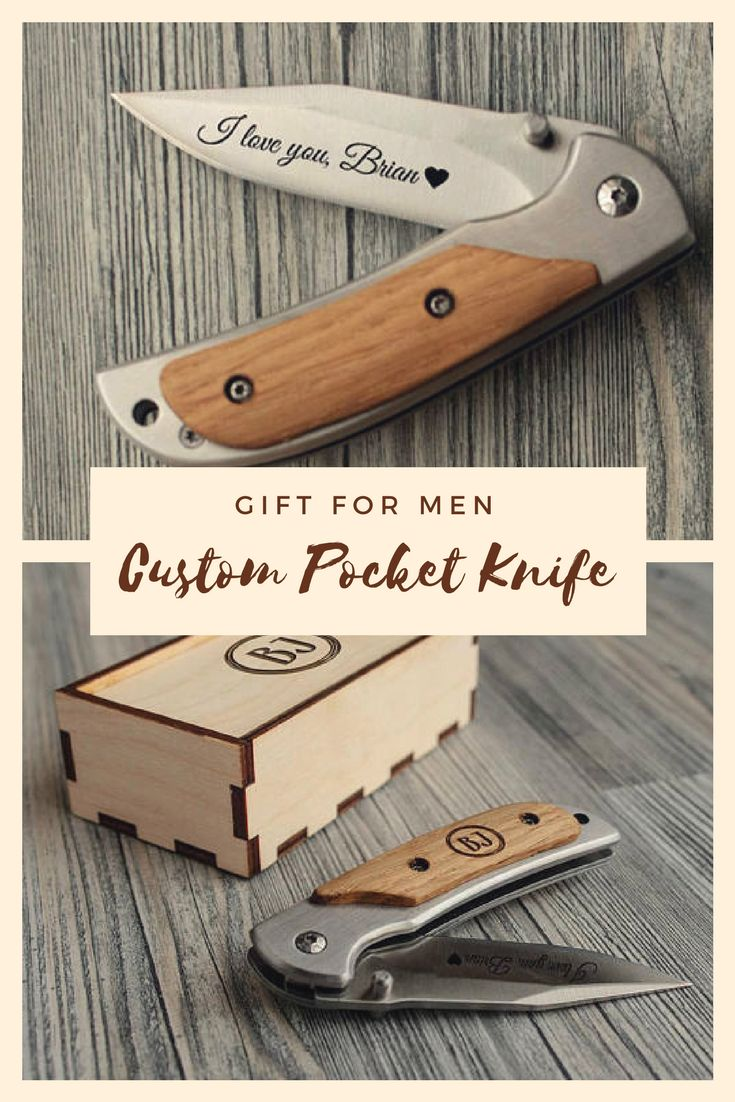 A handy pocket knife with a folding blade and wooden handle pad will be a practical gift for men of any age. A distinctive feature of this knife is its compactness, stylish design and high quality. An individual engraving on the handle will make your gift unique and truly valuable.  #campinggiftsformen #ad #campinggiftideas #campinggiftideascampers