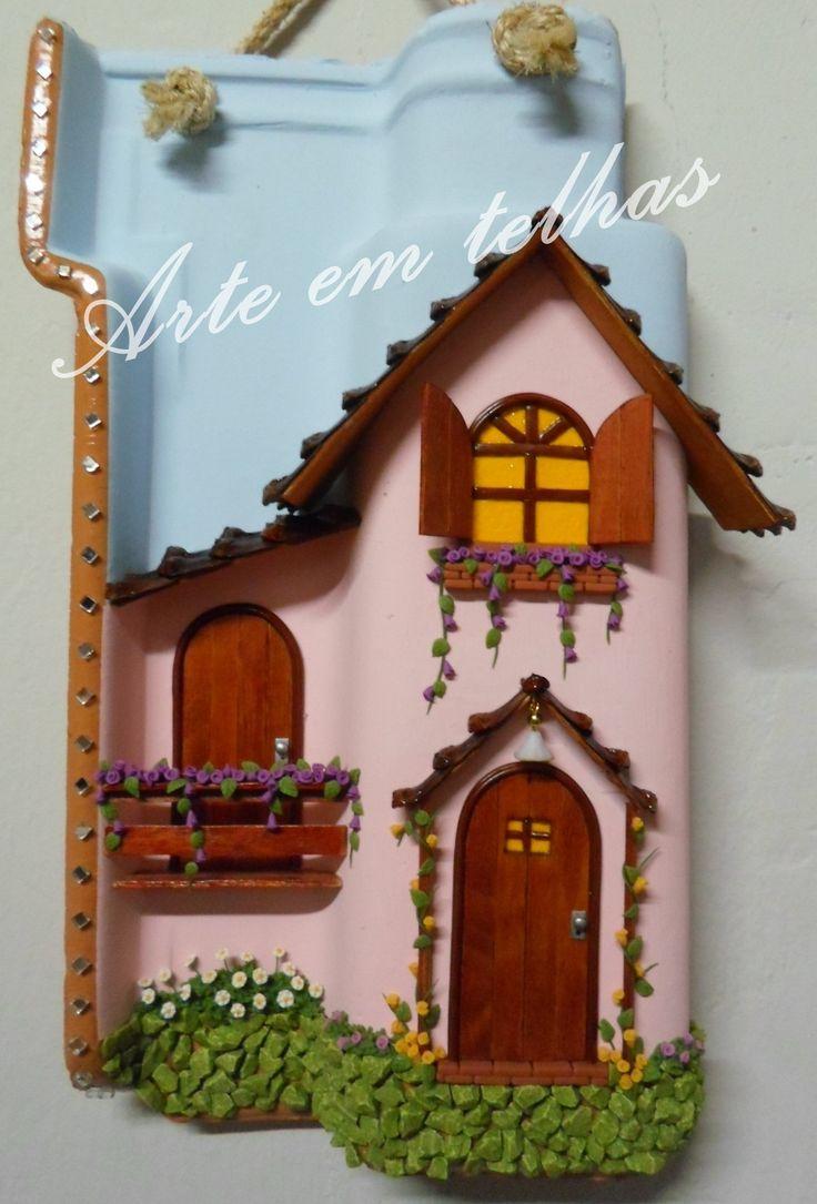 telha decorativa, minha arte! adoro!