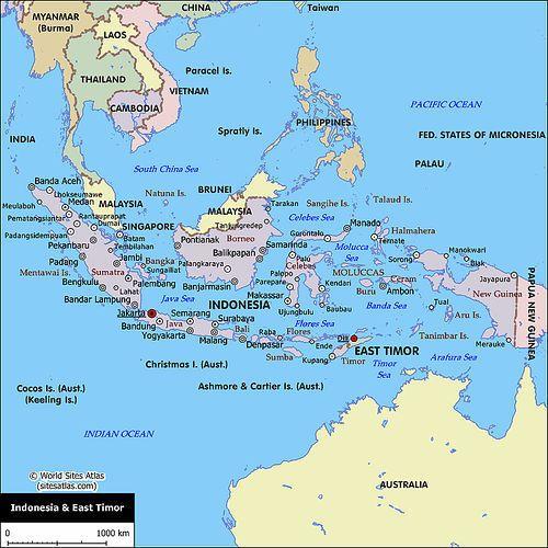 Peta ASEAN | Sebutkan Batas-batas Wilayah Indonesia