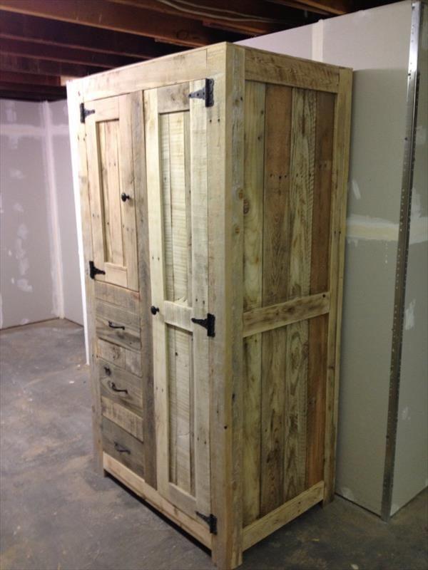 DIY Pallet Cabinet for Storage | 101 Pallets