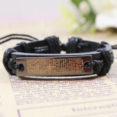 Item Type: Charm Bracelet Gender: For Men Chain Type: Leather Chain Style: Trendy Shape/Pattern: Cross Length: 6CM Weight: 0.07KG Package Contents: 1 x Bracelet