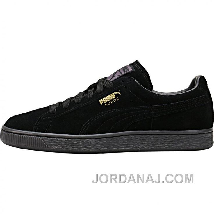 Puma Suede Mono Ice BlackTeam Gold Authentic