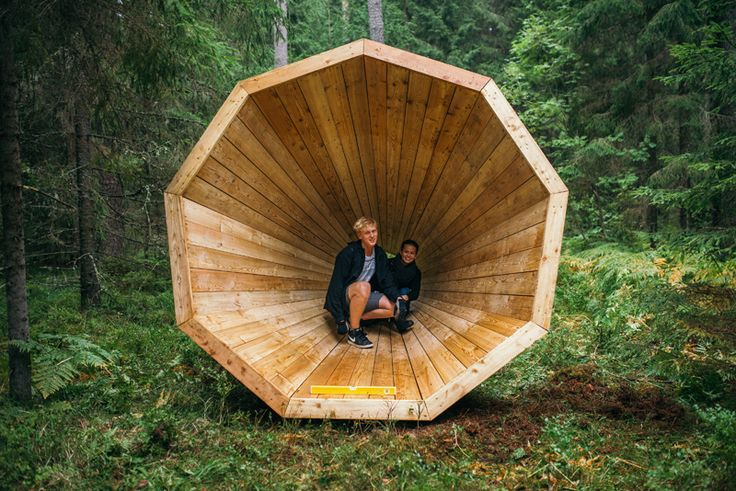Gigantic Wooden Megaphones Have Been Installed In A Forest In Estonia To Amplify The Sounds Of Nature | CONTEMPORIST