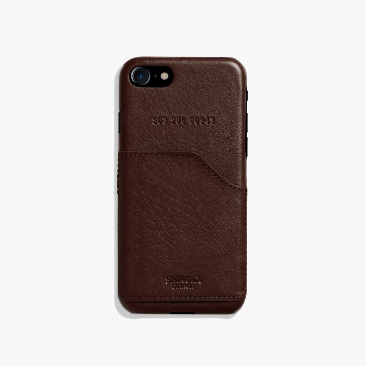 Leather Wrapped Case for iPhone 7 w/ Pocket | Shinola® Detroit