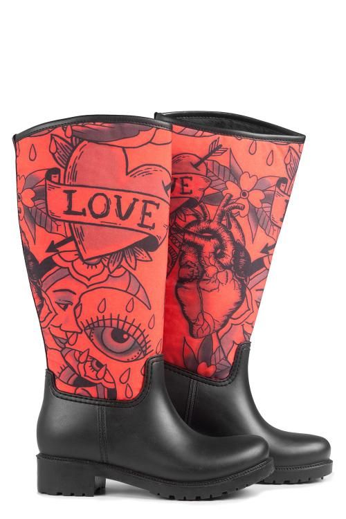Uzun Yağmur Çizmesi - Love | Nemoda.com.tr