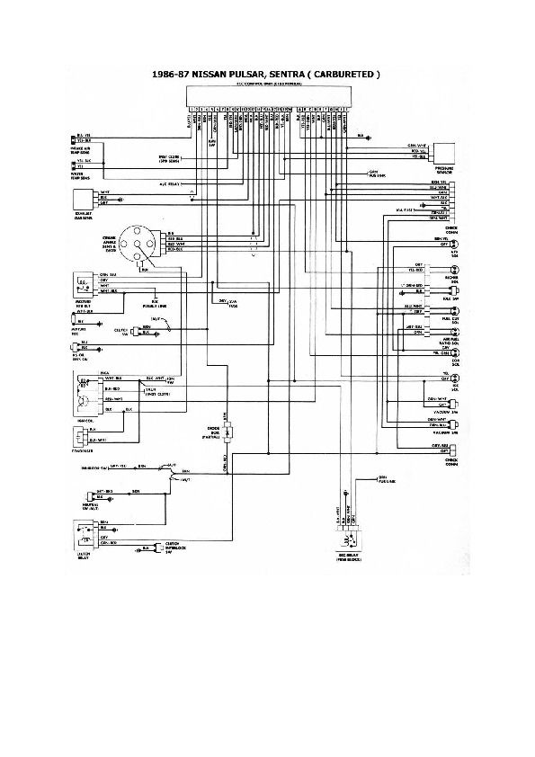Diagrama Electrico Nissan Tsuru Ii 8 Nissan Diagram