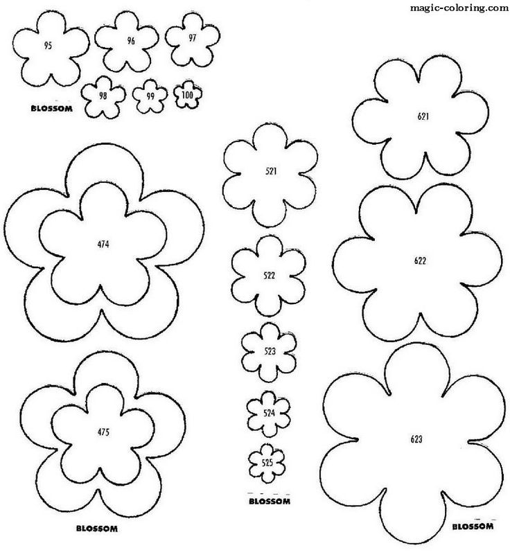 Шаблоны цветка на открытку