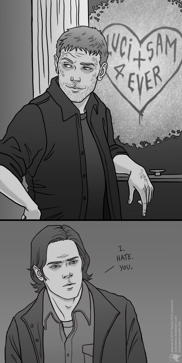 Supernatural comic | Lucifer and Sam