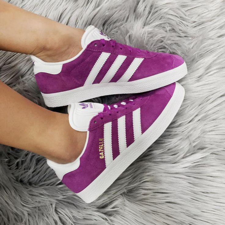 Adidas Gazelle in purple white  | shoes | sneakers | fashion | camden | white | classic | lifestyle | instagram | trainers | shop | bestseller | womens shoes | mens shoes   www.scorpionshoes.co.uk
