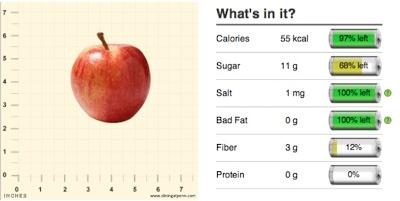 1 small Gala Apple. 55 calories, 3g fiber. #properportions #fruit ...