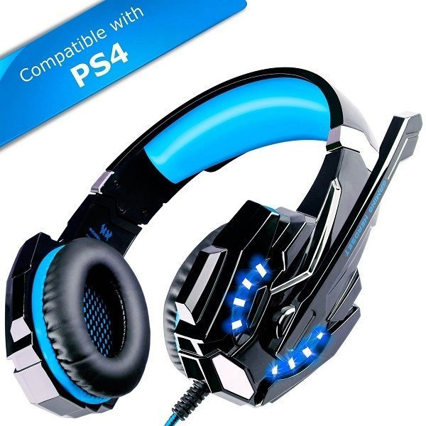 ECOOPRO Gaming Headset PS4 Headset Gaming Headphones with Microphone LED Ligh...