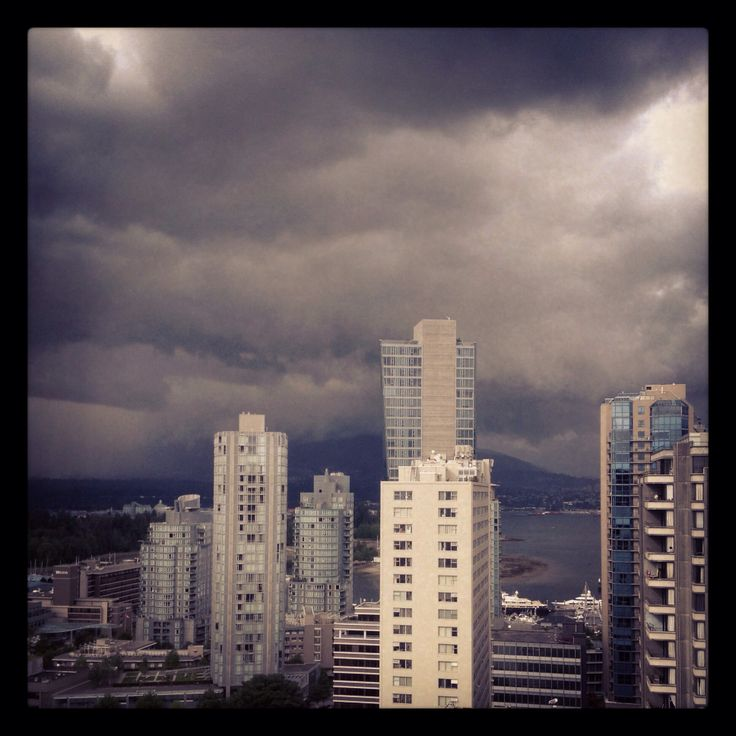 Vancouver. Storm rolling in.