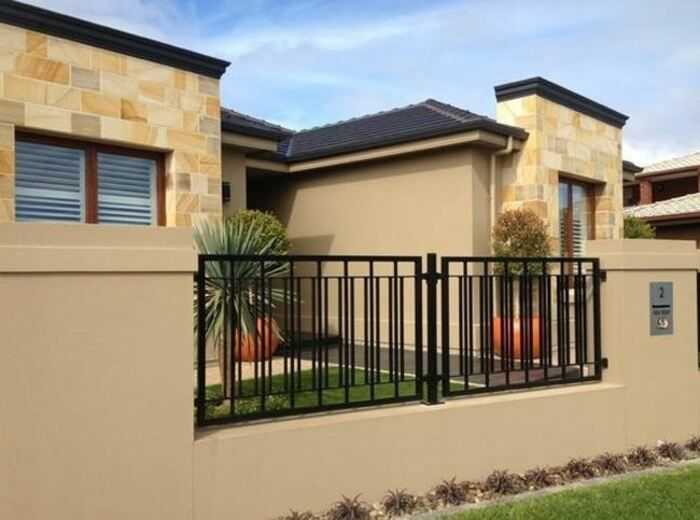Simple Minimalist Yet Charming House Fence Design Ideas House