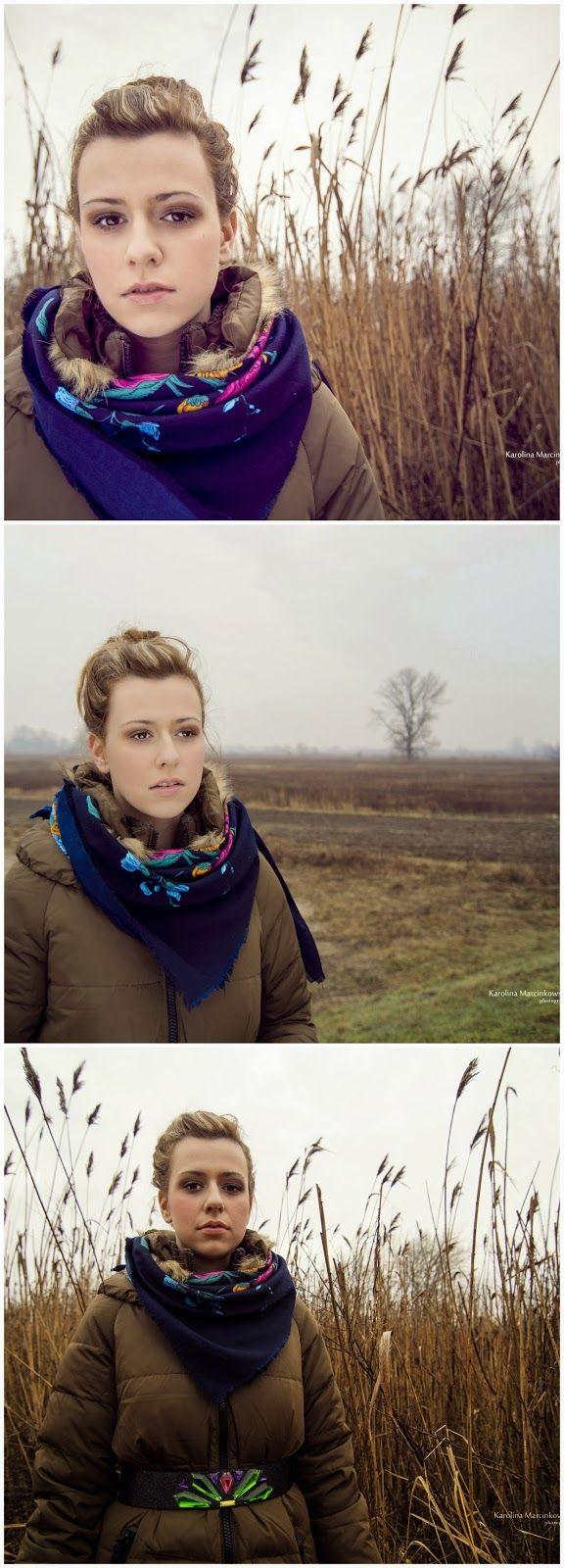 Winter photo session - woman portrait!