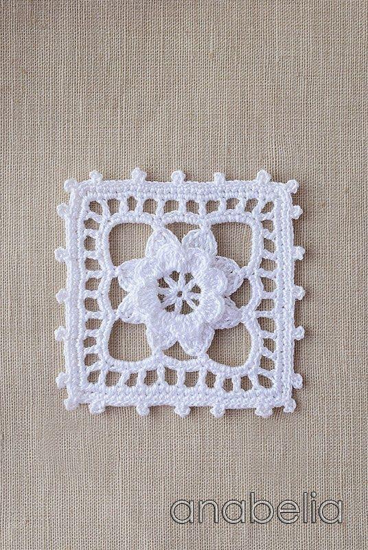 Crochet lace motif nr 5 by Anabelia