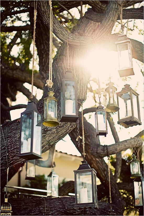 'Vintage' lanterns add a touch of sophistication to all outdoor gatherings