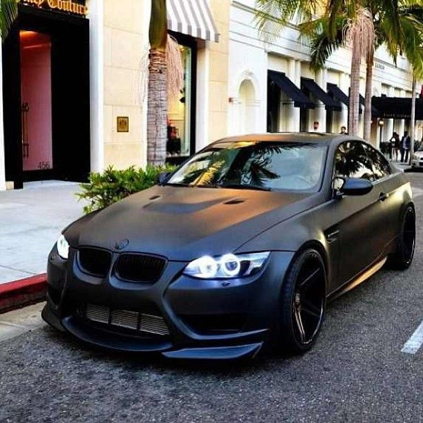 Cool Blacked Out BMW M3 -- Love this flat black color. I really really really want this car..