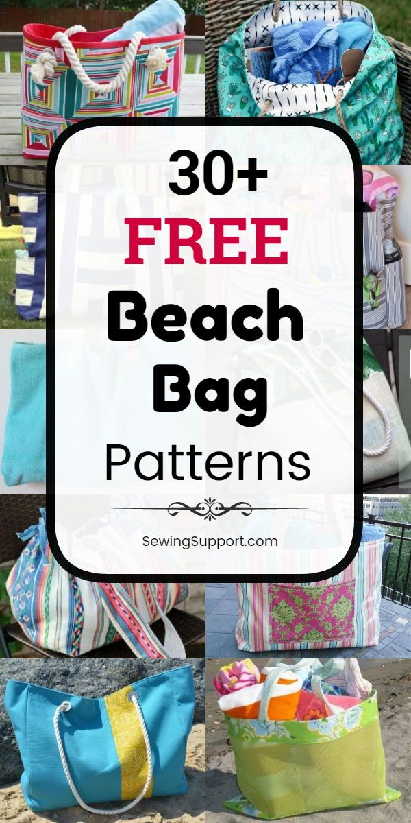 Bag DIY. 30+ Free Beach Bag patterns, tutorials, and diy sewing projects. Great …