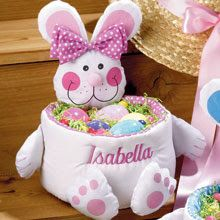 Best 25 personalized easter baskets ideas on pinterest easter super cute personalized easter baskets love these negle Image collections