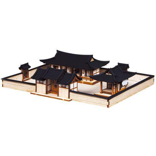 Wooden Model House Kits Korea Series- Korean-Style House Set