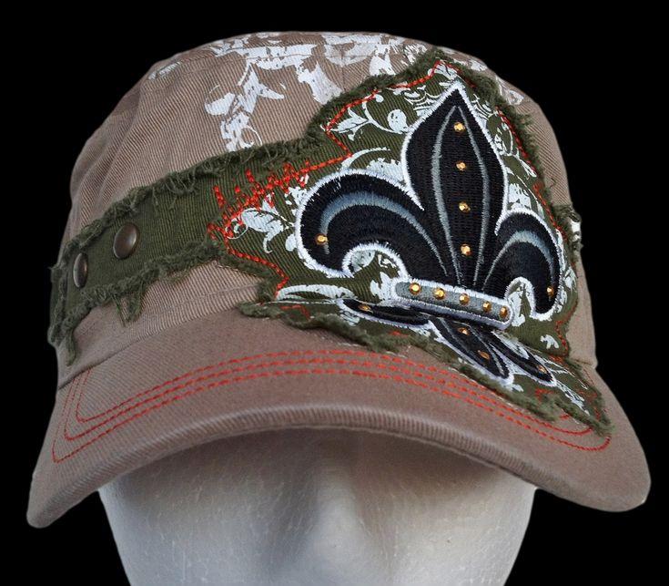 NEW RUGGED SUMMER FLEUR LYS EMBROIDERED COOL FRIENDSHIP MILITARY CAP CADET HAT CASQUETTE CHAPEAU #fleurdelis #fleurdelys #baseballcap #baseballhat #rugged #ruggedcap #cap #hat #summerhat #summercap