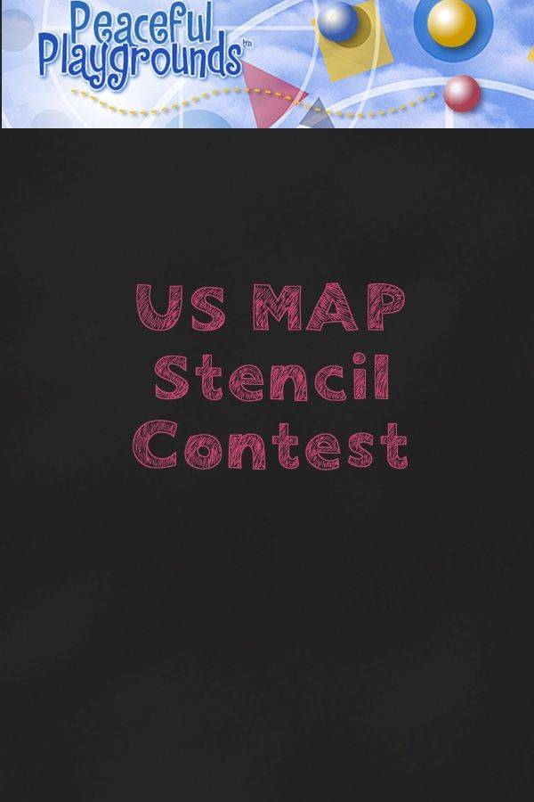 Best US Map Stencil Images On Pinterest Playgrounds - Large us map stencil
