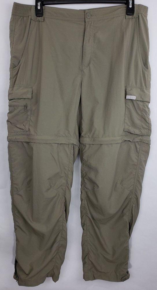 60d6a99eca COLUMBIA Titanium Convertible Shorts Fishing Pants Men's Size XL Light  Green #Columbia #ZipOff