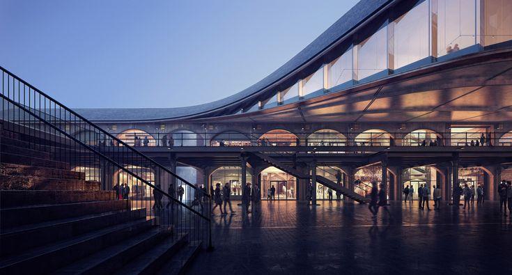 Kings Cross retail development by Thomas Heatherwick in London, United Kingdom