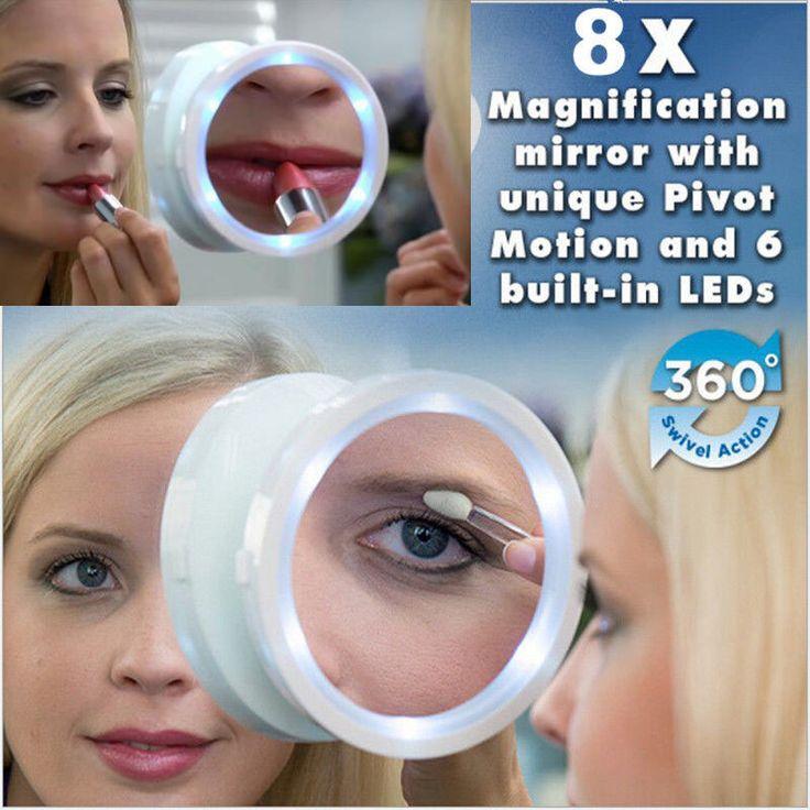$8.64 (Buy here: https://alitems.com/g/1e8d114494ebda23ff8b16525dc3e8/?i=5&ulp=https%3A%2F%2Fwww.aliexpress.com%2Fitem%2FNew-2016-8x-Magnifying-Glass-Travel-Makeup-Mirror-With-LED-Lights-Swivel-Brite-Cosmetic%2F32750584863.html ) New 2016 8x Magnifying Glass Travel Makeup Mirror With LED Lights Swivel Brite Cosmetic for just $8.64