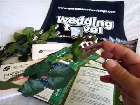 266 best wedding ideas nfl football wedding theme images on want some ideas for your football themed wedding try this quick video footballwedding junglespirit Choice Image